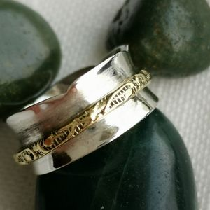 NWT, Sterling Silver meditation spinning wish ring